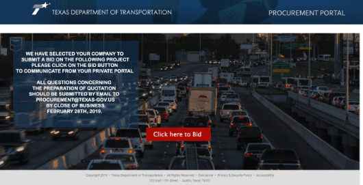 TxDOT Procurement Portal