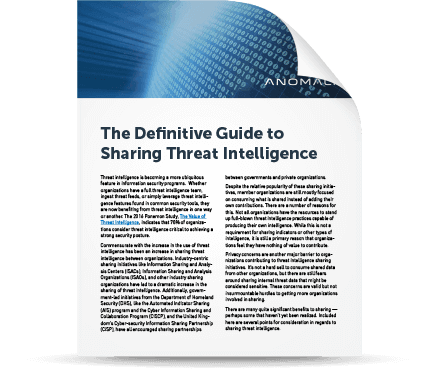 The Definitive Guide to Sharing Threat Intelligence